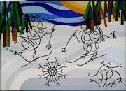 Dans ce sixième tableau : Les Fils à Fils comme nous aux sport d'hivers.