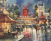 Moulin rouge de nuit.