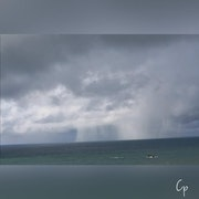 Côte des Basques 2021 Biarritz sous l'orage.