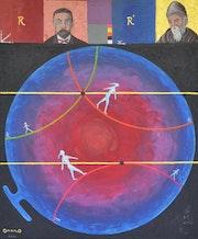 OmorO - Géométrie non Euclidienne - 2021 - Acrylique sur Toile - 61 X 50 cm. Olivier Moreau (Alias Omoro)