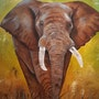 L'éléphant. Nelly Larue
