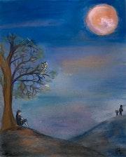 Nuit de lune rose.