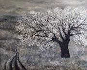 El final del invierno, óleo sobre lienzo.. Demonio - Yolanda Molina Brañas
