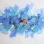 Blue Squares. Sylvie Menez