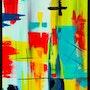 Abstraction avec jaune. Ricksmith-Art