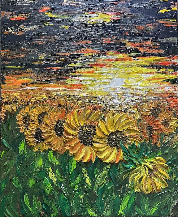 The field of sunflowers. Katarzyna Boduch Kate_Art