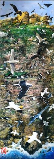 «Planche» d'oiseaux.