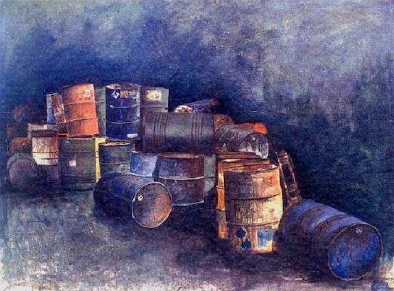 Bidones en el punto verde. Juan Arroyo Salom J. A. Salom