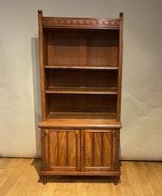 Antique Bookcase at John Bird Antiques in Petworth, West Sussex, uk. John Bird Antiques