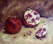 Delicious pomegranate. Oil painting.. Ksenia Del Bono
