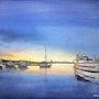 Sundown in harbor.. Erkin Yilmaz