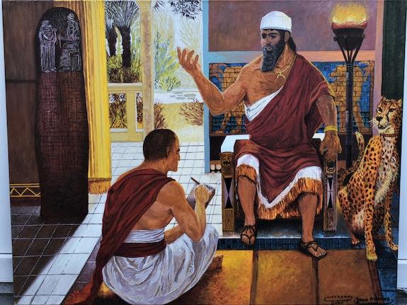 Peinture des rois portraits. Joky Kamo Joky Kamo