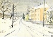 Geringswalde im Winter.