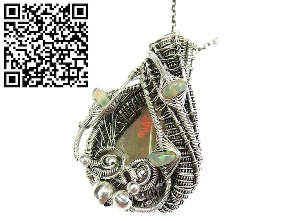 Honey Ethiopian Opal Wire-Wrapped Pendant with Ethiopian Welo Opals. Heather Jordan Heather Jordan Jewelry