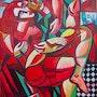 VEKSLER~Peintre Russe Listé~Oeuvre Originale Signée~15F (61 X 54 cm).