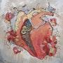 Mécanique de coeur. Mix media.. Ksenia Del Bono