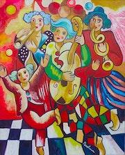 PERELMAN~Peintre Russe Listé~Oeuvre Originale Signée~12F (55 X 46 cm). Loona Vonachen