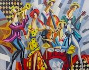 VEKSLER~Peintre Russe Listé~Oeuvre Originale Signée~12P (50 X 61 cm). Loona Vonachen