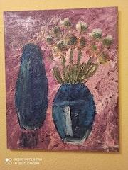 Jarrones y flores.