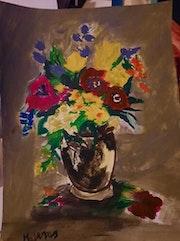 Des fleurs peinture acrylique. Jean-Louis Majerus