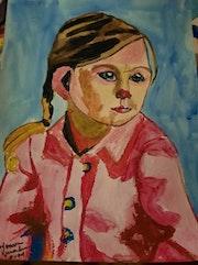 Une petite fille Peinture acrylique. Jean-Louis Majerus