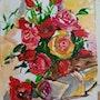 Bouquet de fleurs acrylique. Jean-Louis Majerus