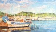 Port de pêche de Macinaggio. Peintre