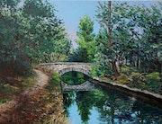 Un pont sur le canal de Carpentra.