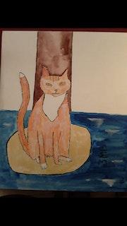 Chat futé naviguant. Marguerite Bursa