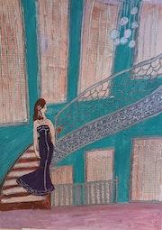 Descente d'escalier pour aller au bal. Mijo