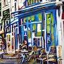 A la terrasse d un cafe. Sylvie Ausseur