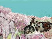La moto abandonnée.