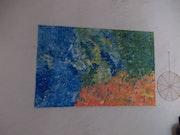 Peinture acrylique. 19/12/1959