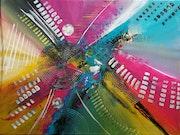 Peinture abstraite. Caroline Favray-Barbier