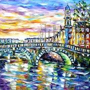 Ambiance matinale à Dublin.