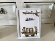 Famille chats. Ghislaine Mercier