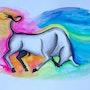Aquarelle représentant un taureau camarguais sur papier aquarelle 300 gr. Nazca Spirit