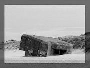 Photo Numérique nb Bunker Vestige 2nde Guerre Mondiale - Dunkerque 10/2006.