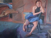 Seated Figure with Stingray by Peggy Dee. Women's Works 2021