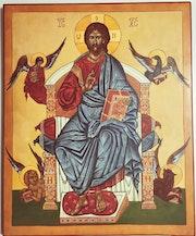 Icône Christ en majesté. Sandrine Millet