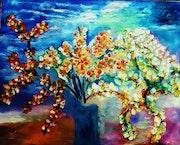 Vase fleurit. Maya Linden