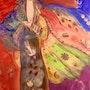 Peinture sous verre «Millau. Annie Saltel