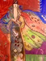 Peinture sous verre «Millau.