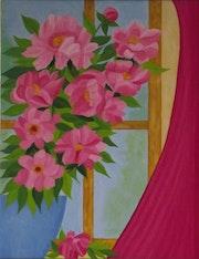 Fleurs a la fenêtre. Gerard Flohic