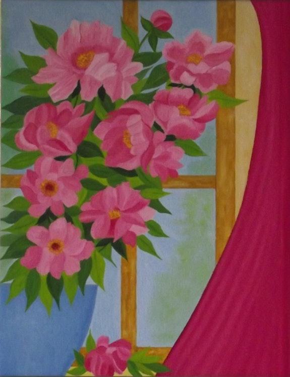 Fleurs a la fenêtre. Gerard Flohic Gerard Flohic