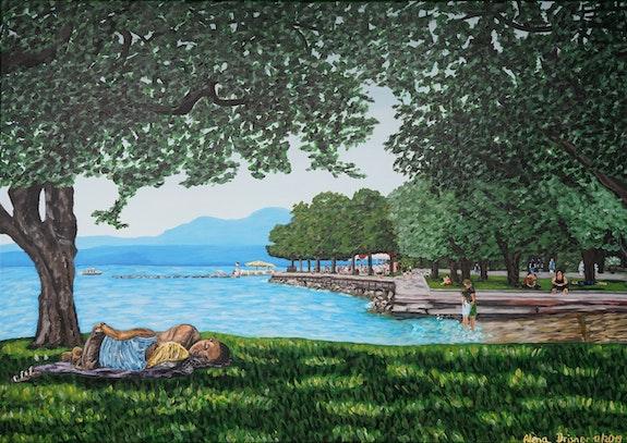 Afternoon break on Lake Garda. Alena Drisner Alena Drisner