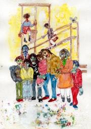 31- La Familia. Dibujo.. Carmen Luna