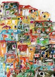34- Pueblo. Dibujos.. Carmen Luna