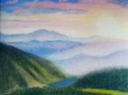 Paysage de montagnes. Mimi