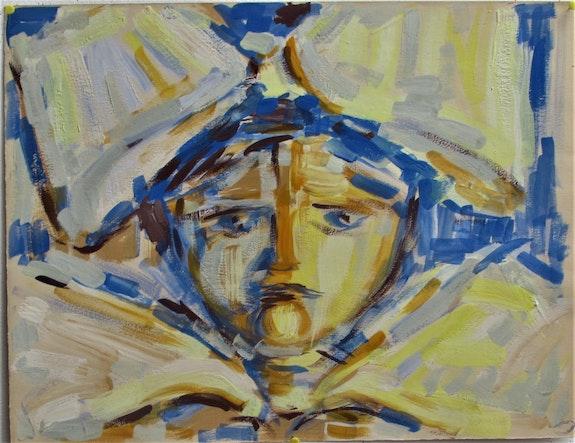 Sans titre : visage triste de Bengt Lindström (1925-2008), (attribué à).. Bengt Lindström (1925-2008) (Attribué À). Historien d'art, Archéologue; Chercheur Free-Lance (Er)